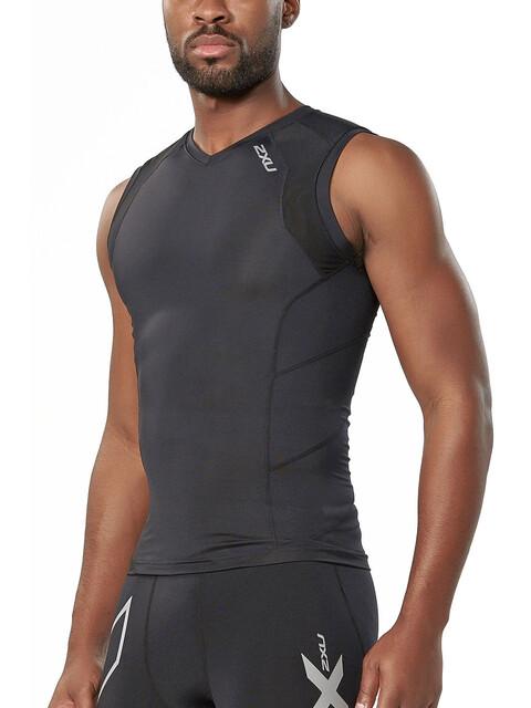 2XU Compression Sleeveless Top Men Black/Black